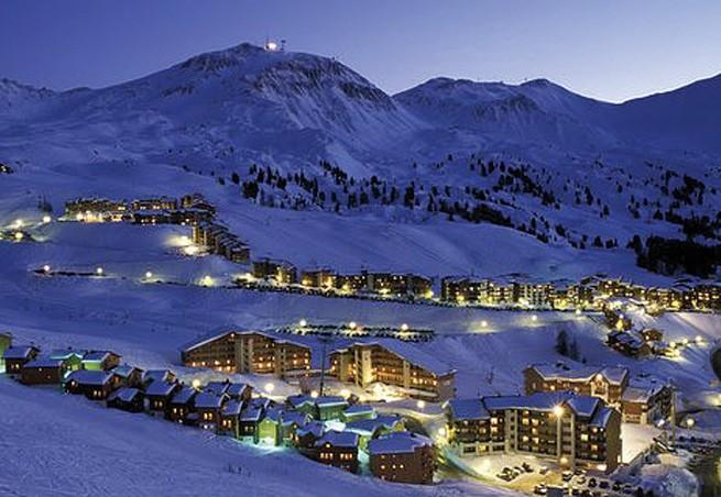 feu d'artifice pour le ski