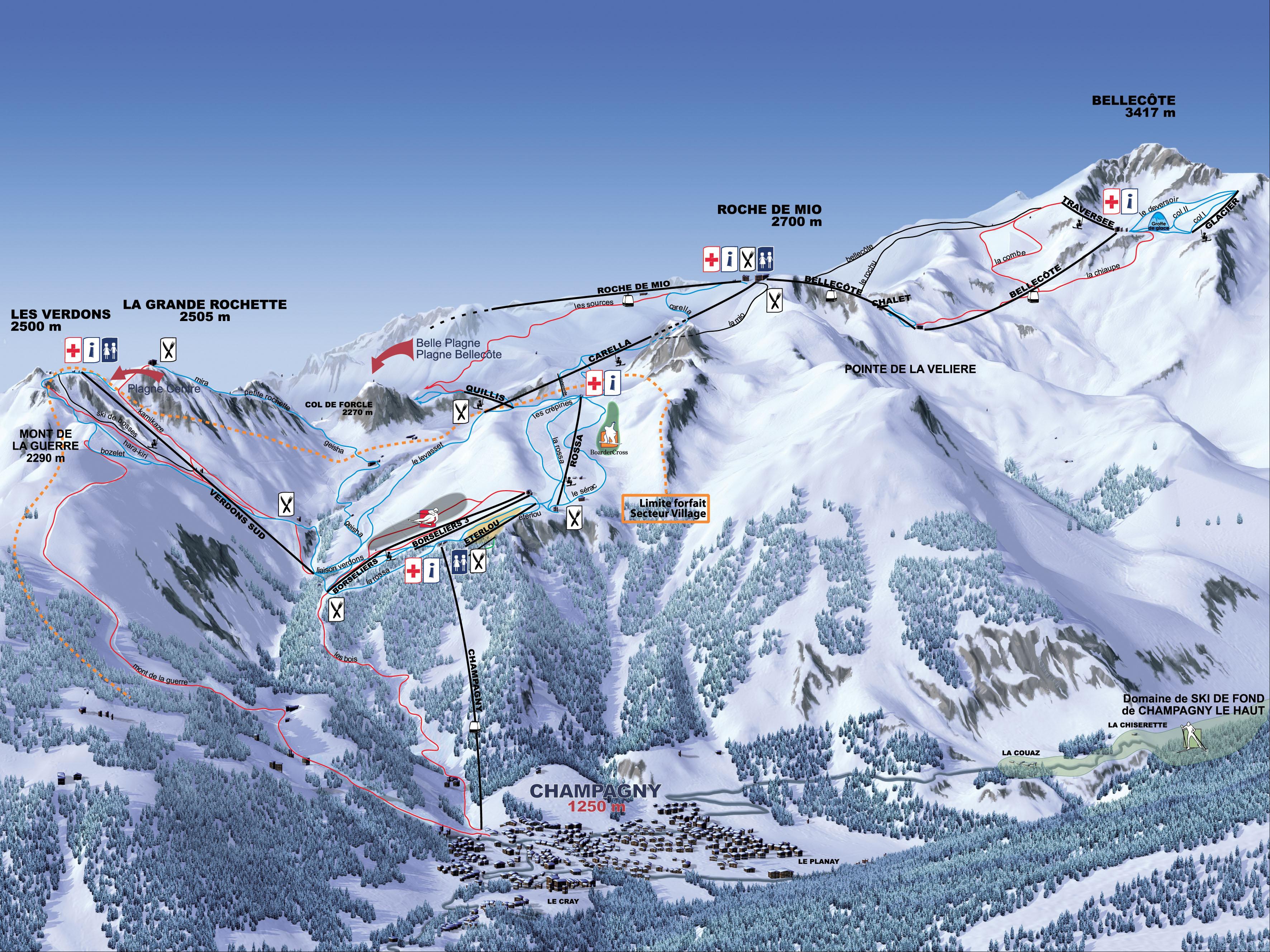 Station de ski champagny en vanoise alpes du nord savoie vacances - Cabinet medical moutiers ...
