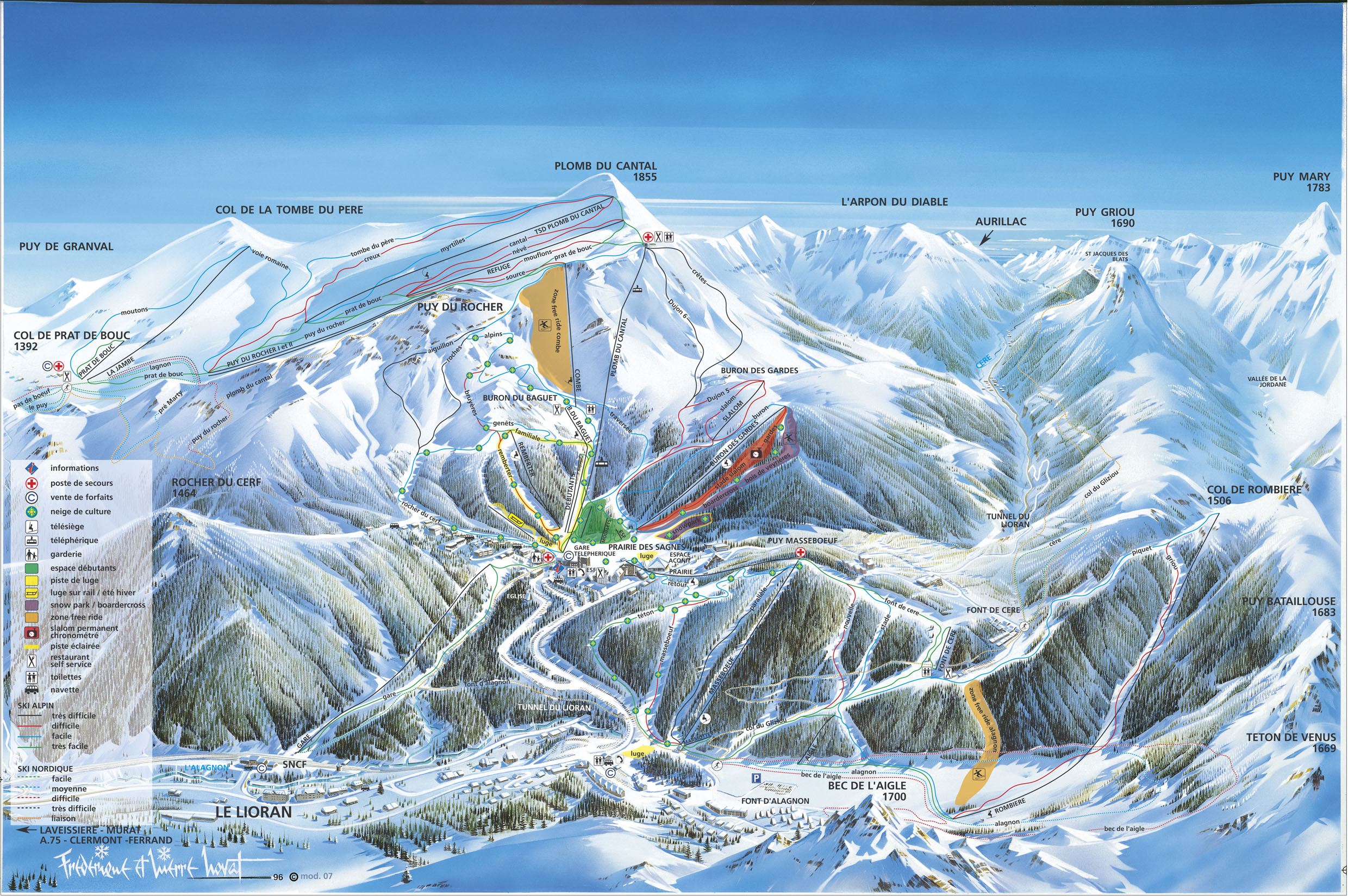 Station de ski le lioran massif central cantal vacances - Office tourisme le lioran ...