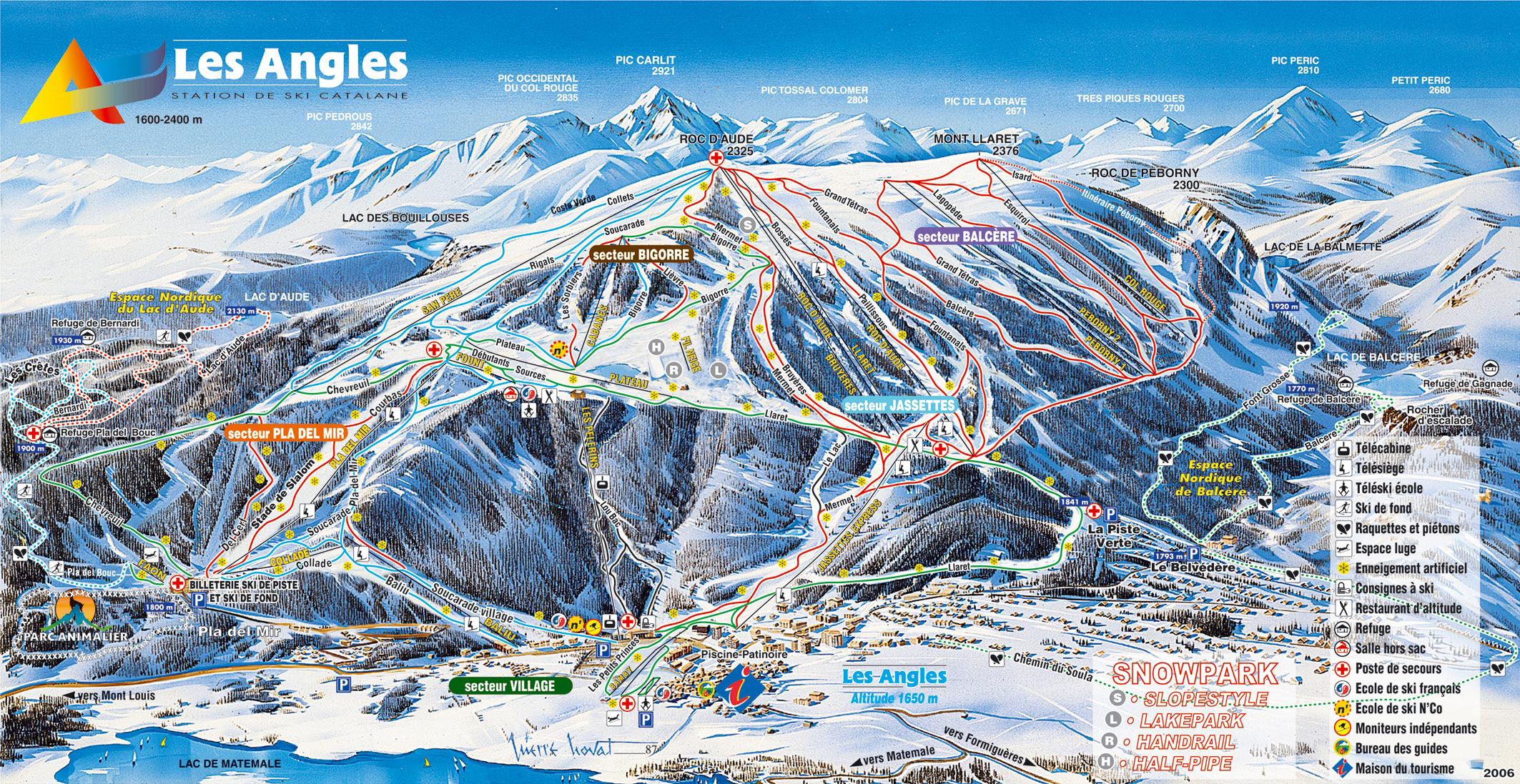 Station de ski les angles pyr n es pyr n es orientales domaine skiable - Panoramic les angles ...