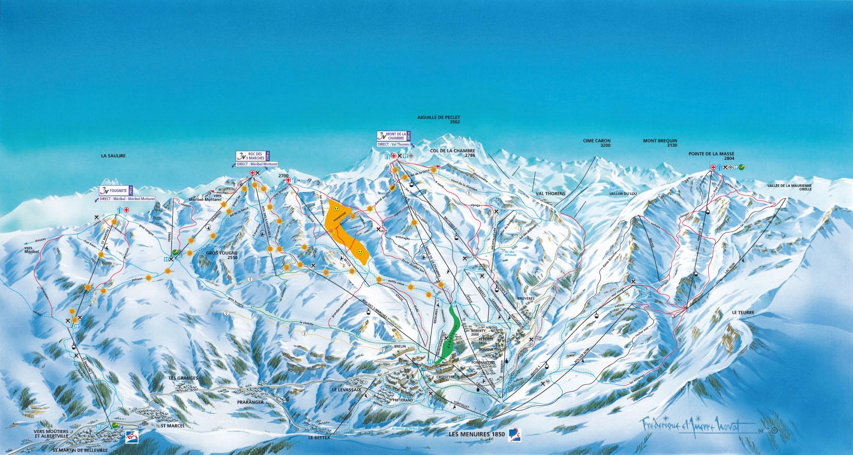 Station de ski les menuires alpes du nord savoie vacances - Cabinet medical moutiers ...