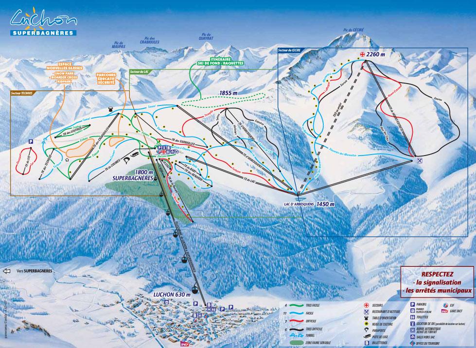 Station de ski luchon superbagn res pyr n es haute for Piscine de luchon