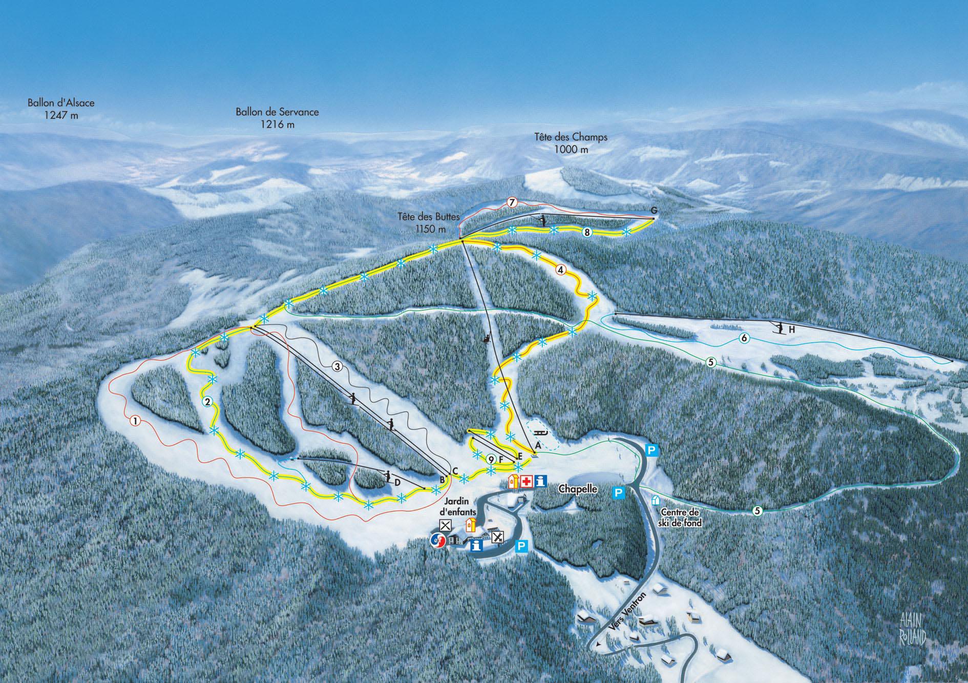 Station de ski ventron vosges vosges vacances - Office de tourisme ventron ...