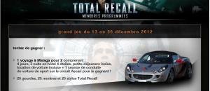 Grand concours Total Recall