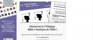 Le MBA ESG e-business lance une application Facebook CVthèque