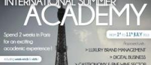 Juillet 2013 : 1ère édition «International Summer Academy»