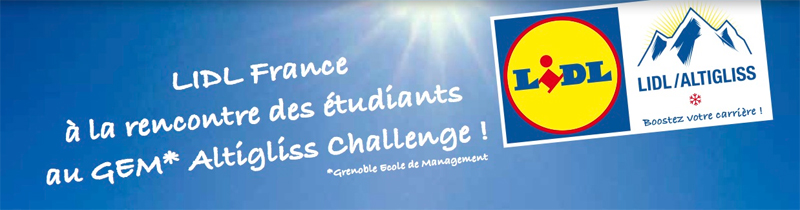 LIDL France à la rencontre des étudiants au GEM* Altigliss Challenge