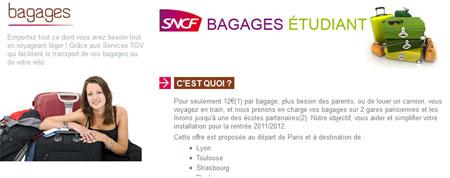 plus de bagages dans le train pour les jeunes la rentr e une intiative de la sncf. Black Bedroom Furniture Sets. Home Design Ideas