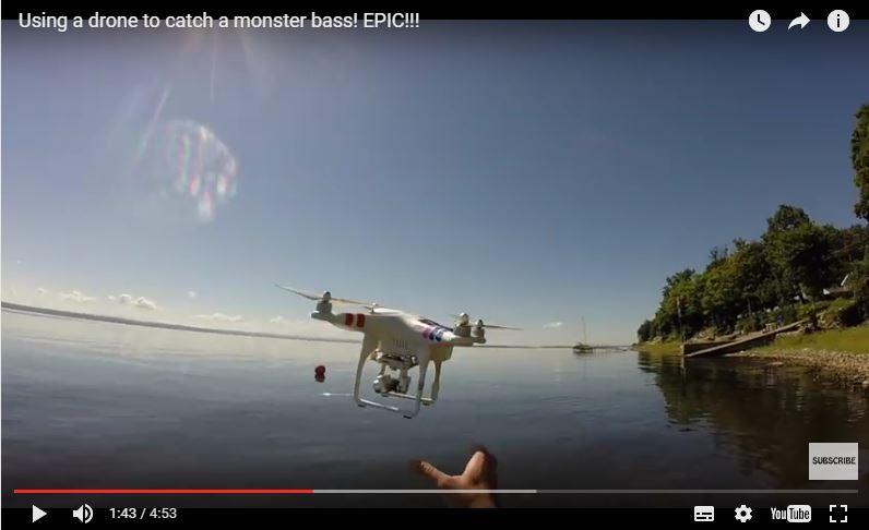 Connaissez vous le DRONE FISHING?