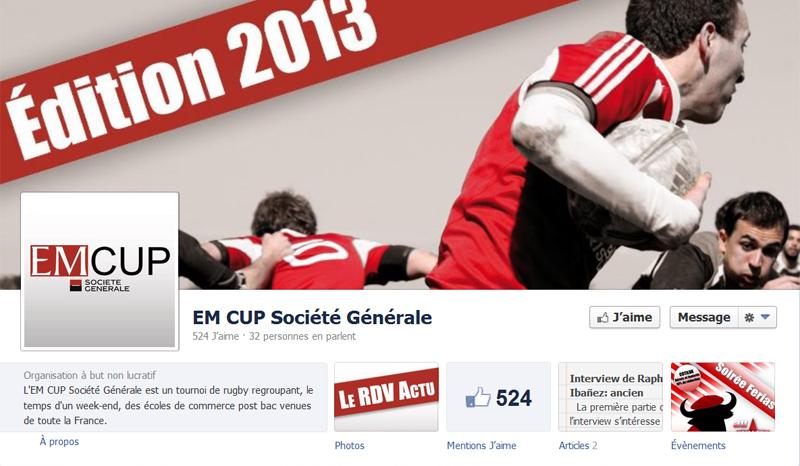 EM CUP Société Générale Tournoi de rugby inter-écoles de commerce post-bac
