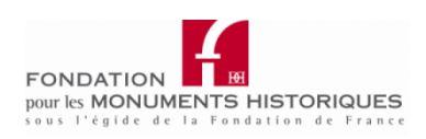 Bourses d'études de la Fondation pour les Monuments Historiques