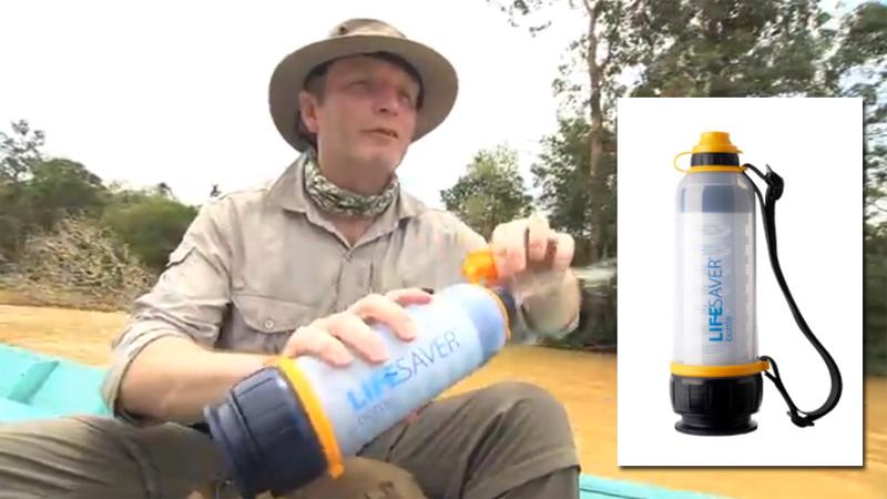 lifesaver  la bouteille qui permet de filtrer directement