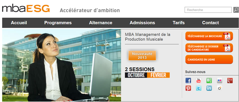 MBA ESG : Lancement du MBA Production Musicale
