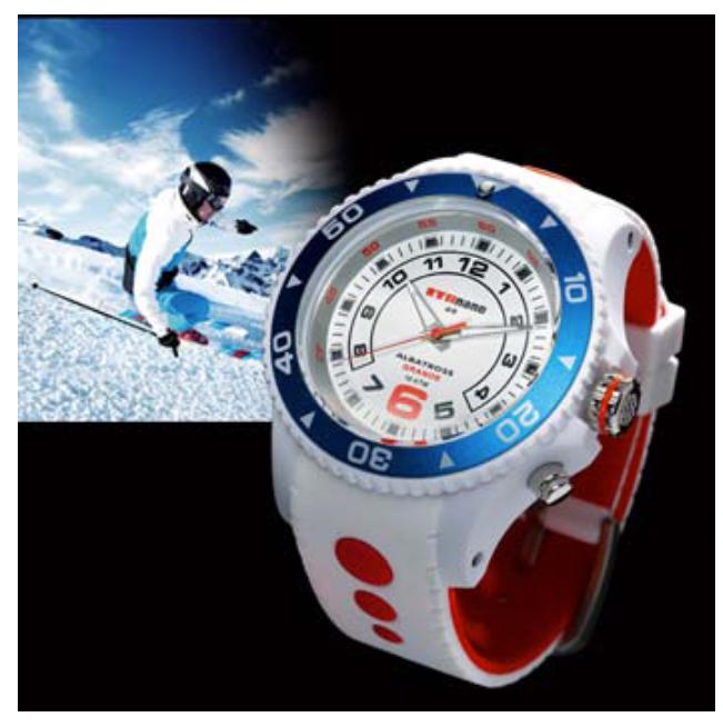 montre et ski   une montre d u00e9di u00e9e au skieur