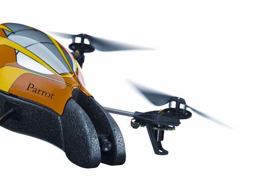 parrot - drone quadricoptère bebop 2 - blanc/noir