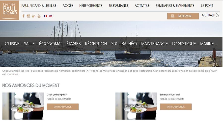 Bon plan job d'été : 200 postes à pourvoir sur les îles Paul Ricard dans le Sud de la France