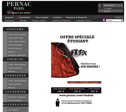 PERNAC Paris offre à tous les étudiants l'opportunité inédite de créer leur costume et chemise sur mesure.