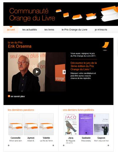 orange lance la 3 me dition du prix orange du livre le. Black Bedroom Furniture Sets. Home Design Ideas