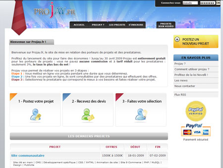 Projay : Un portail pour les porteurs de projets