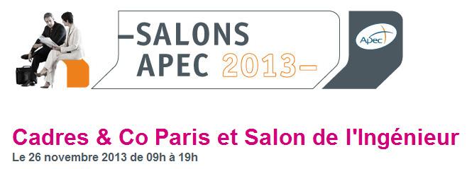 Salon de l 39 ing nieur et salon cadres co paris le 26 novembre - Salon recrutement ingenieur ...