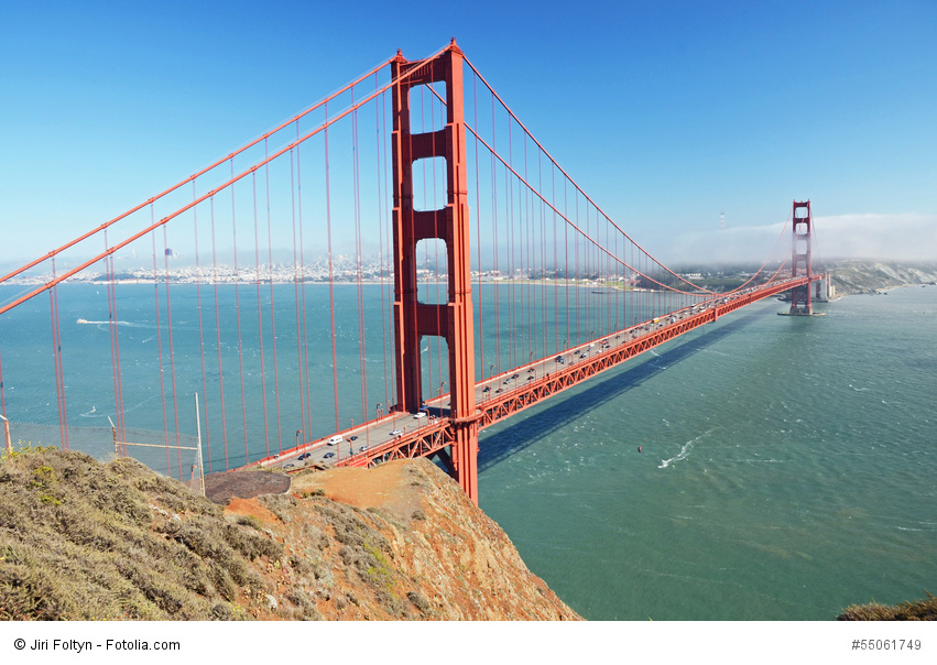 Ne manquez pas le Golden Gate Bridge!
