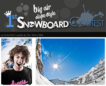 1st Snowboard Contest : big air slope style à Isola 2000
