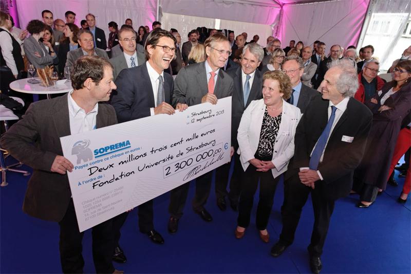 Soprema un don de 2 3 m la fondation universit de - Soprema strasbourg ...