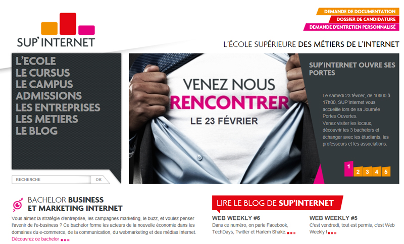 Immersion à SUP'Internet  : Semaine de rush e-business