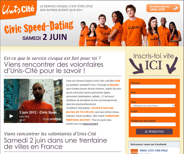 UNIS-CITE ORGANISE UNE OPERATION DE  « CIVIC SPEED-DATING »