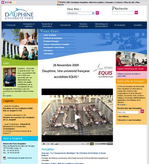Dauphine 1ère université française à obtenir l'accréditation EQUIS pour l'ensemble de l'université