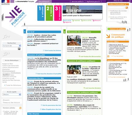 Lancement de la nouvelle version de www.vie-publique.fr