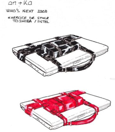 l 39 ordinateur portable devient l accessoire de mode incontournable de la fashionista. Black Bedroom Furniture Sets. Home Design Ideas