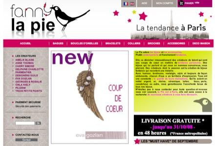 Amelie Blaise chez Fanny-la-pie.com le site de référence pour les bijoux fantaisie !