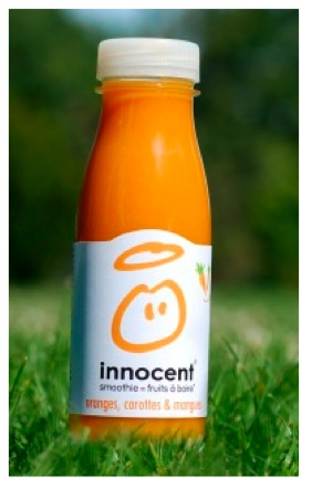 Le premier smoothie innocent mi-fruit, mi-légume !