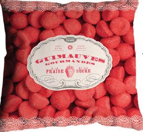 Coussin fraise Tagada