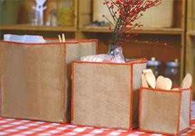 Cubes de rangement en lin