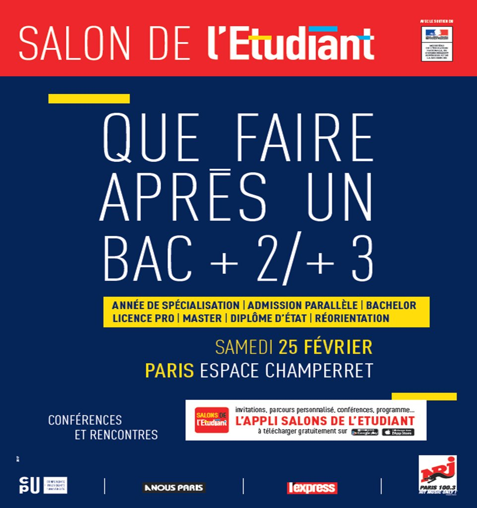 salon de l u0026 39 etudiant  u00ab que faire apr u00e8s un bac  2   3
