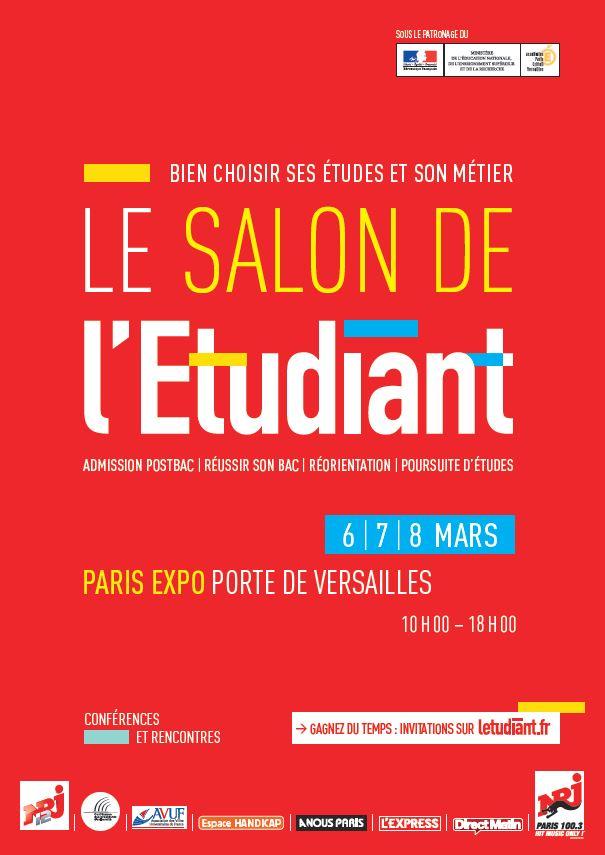 Salon de l 39 etudiant de paris for Salon job etudiant paris
