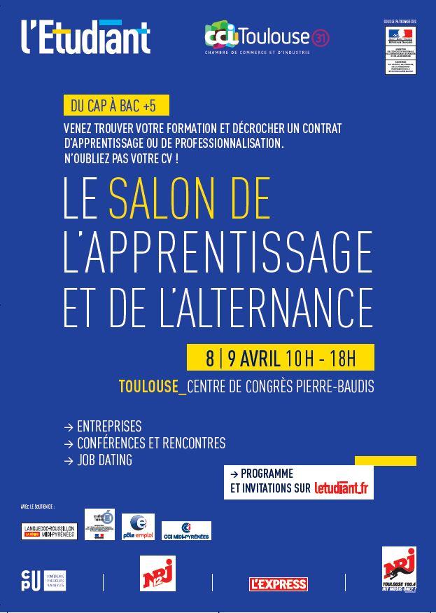 Salon de l 39 apprentissage et de l 39 alternance de toulouse - Salon de l alternance toulouse ...