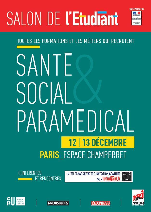 Salon de l 39 etudiant sante social et paramedical de paris - Salon etudiant champerret ...