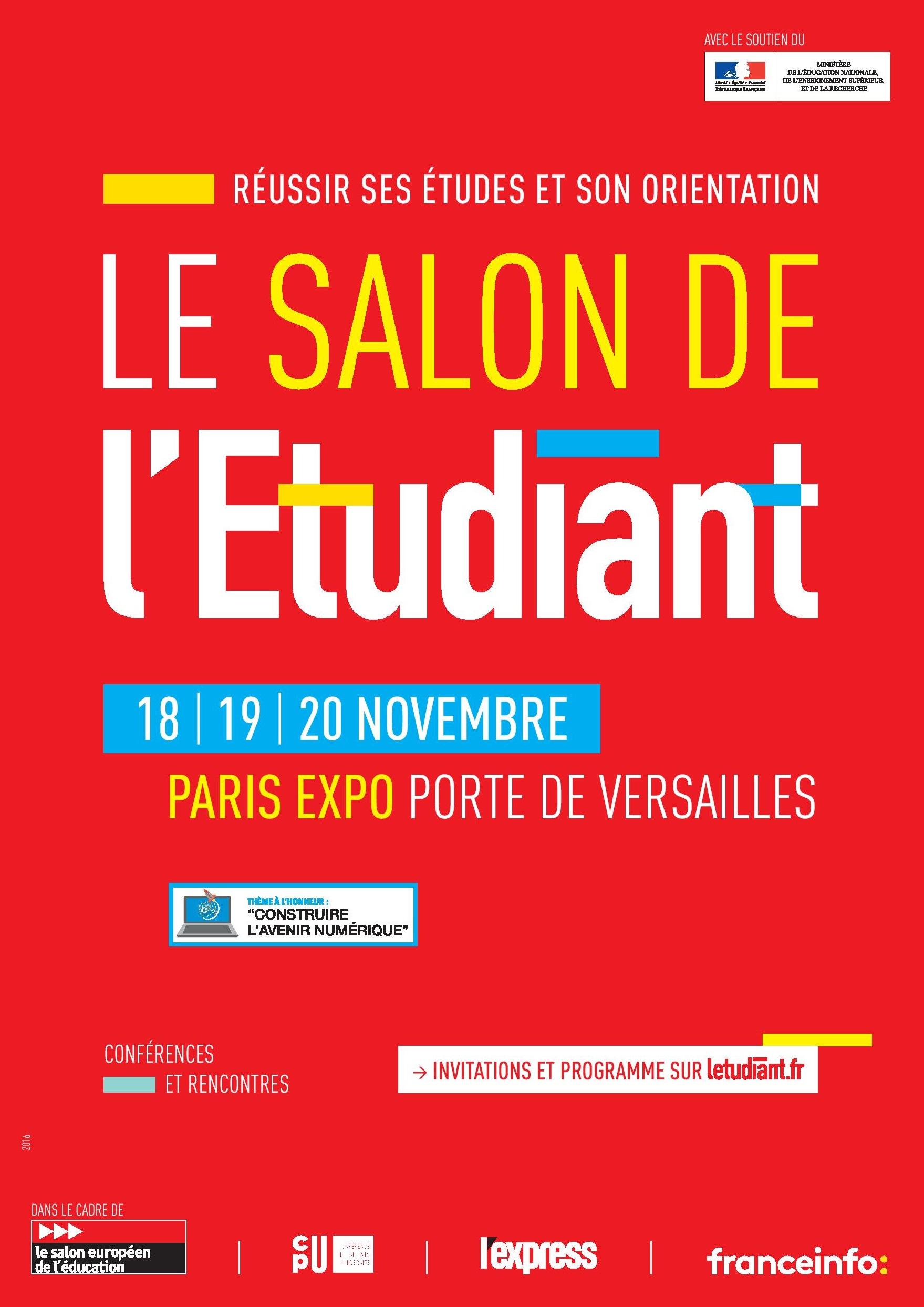 Salon de l 39 etudiant dans le cadre du salon europ en de l for Salon europeen de l education porte de versailles