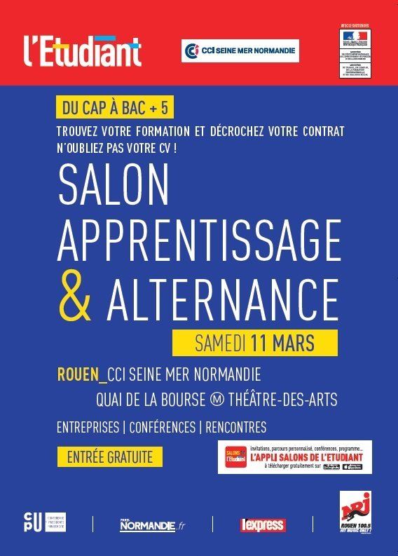 Salon de l 39 apprentissage et de l 39 alternance de rouen - Salon de l alternance et de l apprentissage ...