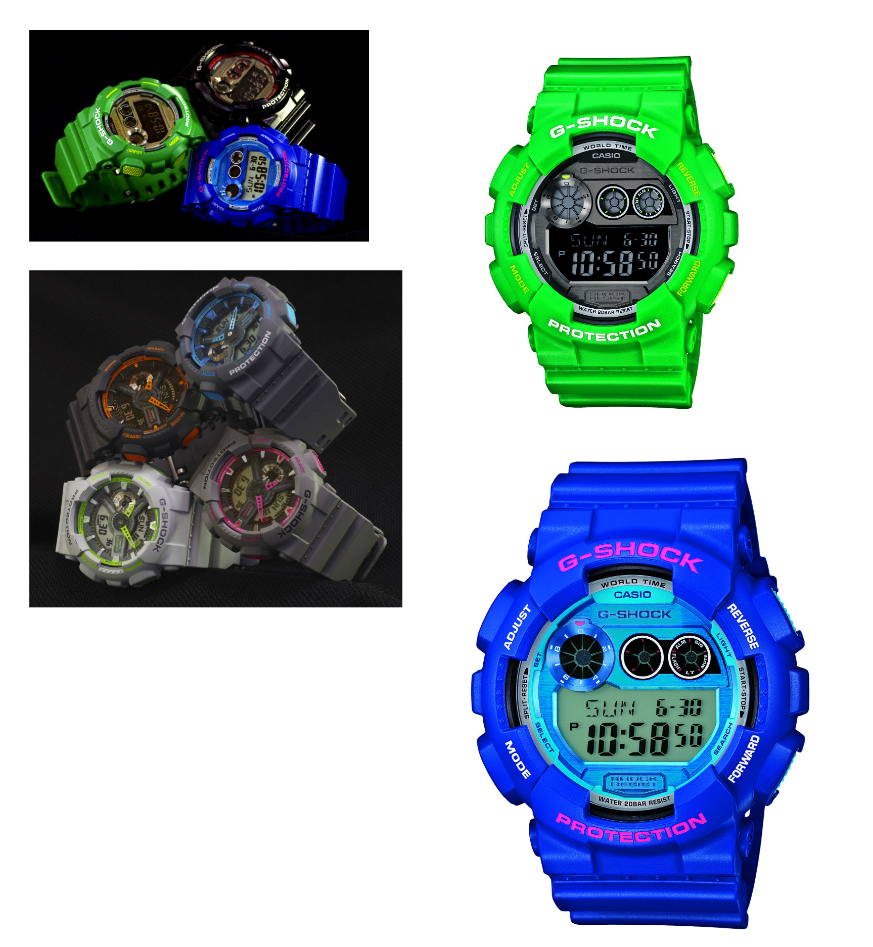 nouvelles montres casio g shock des mod les aux couleurs des quipes sportives am ricaines. Black Bedroom Furniture Sets. Home Design Ideas