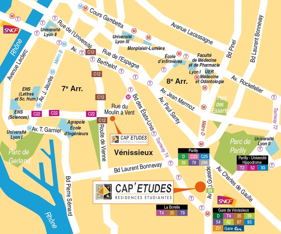 Cap 39 etudes parilly 69200 v nissieux r sidence - Residence les jardins de l universite toulouse ...