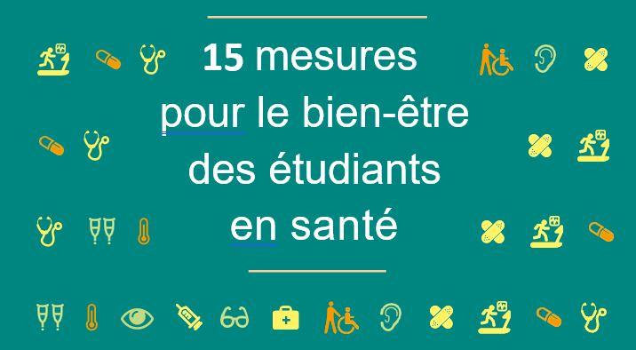 Rapport du Dr Donata Marra : 15 engagements pour le bien-être des étudiants en santé