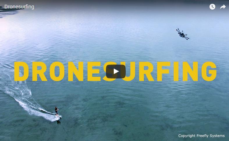 Avez vous déjà essayé le Drone Surfing
