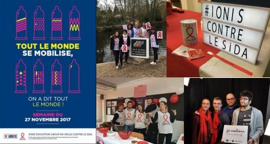 Les 27 000 étudiants du Groupe IONIS mobilisés contre le sida