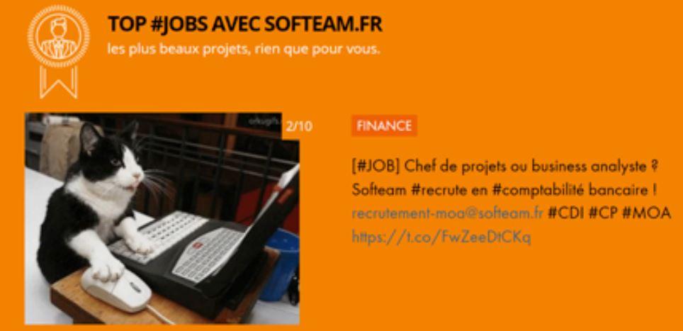 SOFTEAM propose 200 TOP #JOBs en Digital, Data, Intelligence Artificielle et Finance