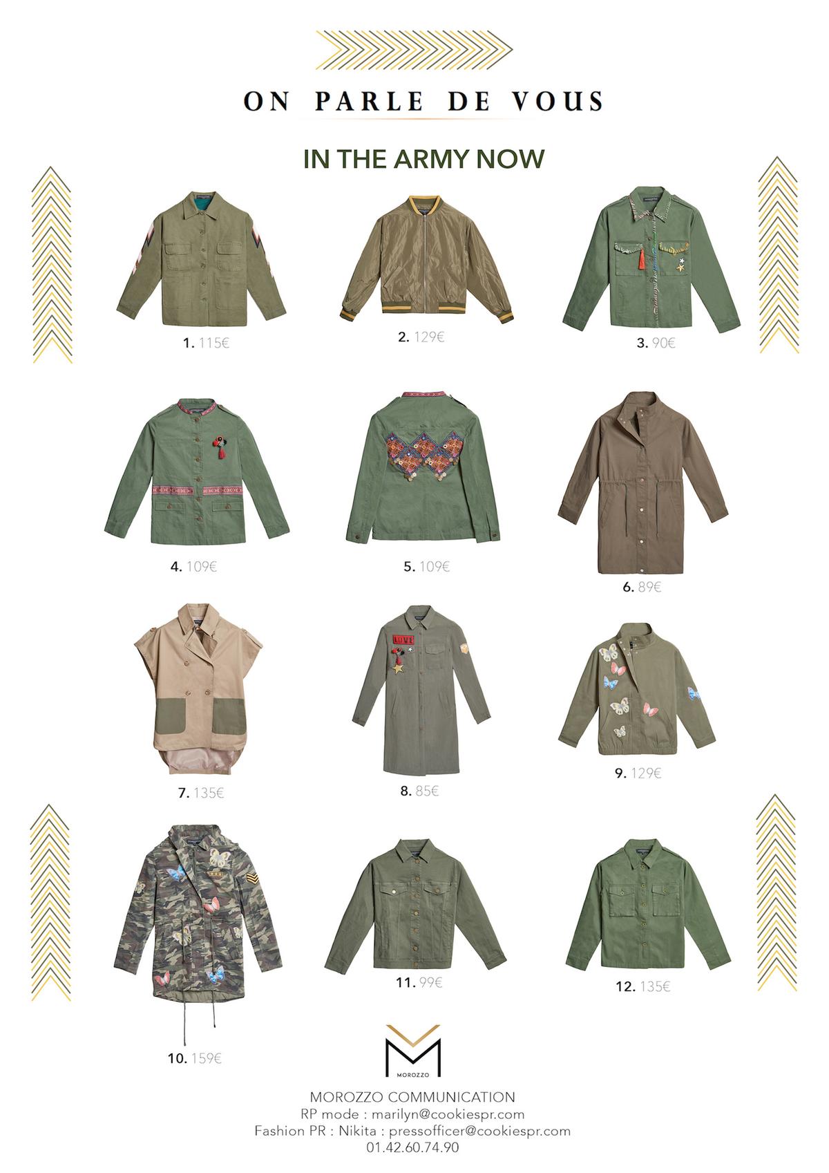 Les vestes militaires d'On Parle De Vous