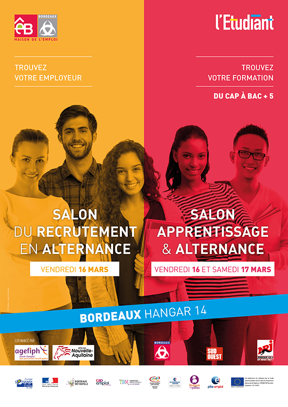 Salon de l 39 apprentissage et de l alternance 16 et 17 mars 2018 bordeaux - Salon de l alternance bordeaux ...